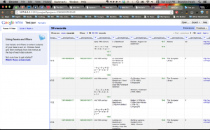 Screen shot of Open Refine with Europeana data