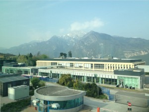Today's view from DH at FBK office