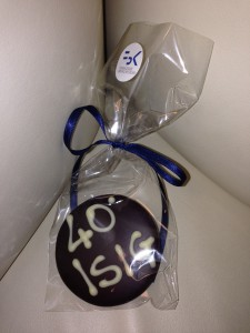ISIG Chocolate medal for group's 40th Anniversary